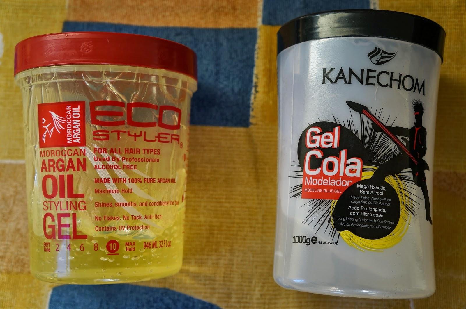 Comparação: Eco Styler Gel X Gel Kanechom Cola
