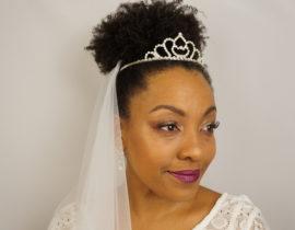 Noivas – Penteados com cabelo crespo