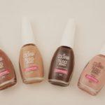 Coleção Colorama Nudes Reais – Parte 2 : cores Nua & Crua, Sem Retoque, Acordei Assim e Plena